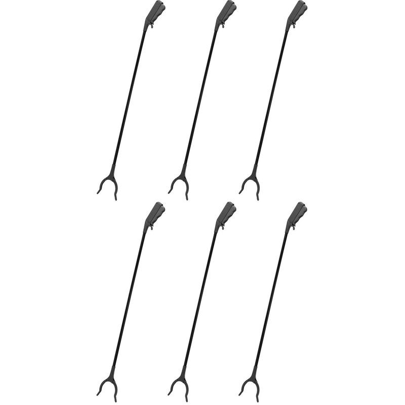 6x zwarte afvalgrijpers grijparmen 82 cm