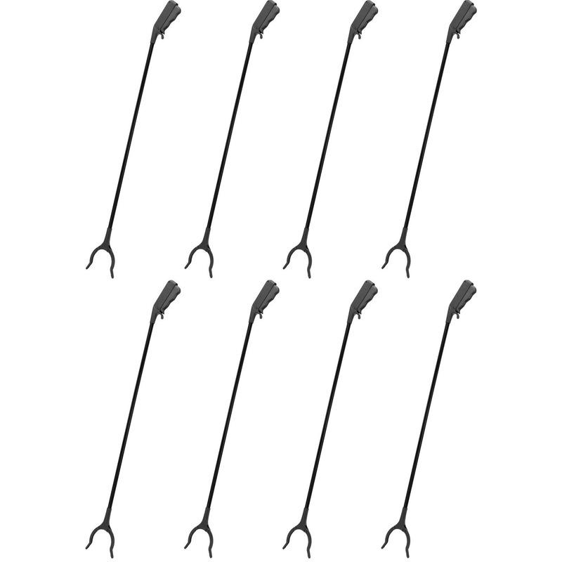 8x zwarte afvalgrijpers grijparmen 82 cm